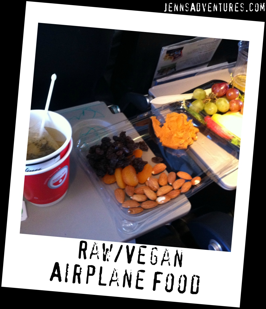 Raw Vegan Airplane Food