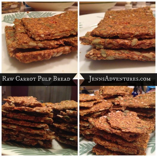 Raw Carrot Pulp Bread